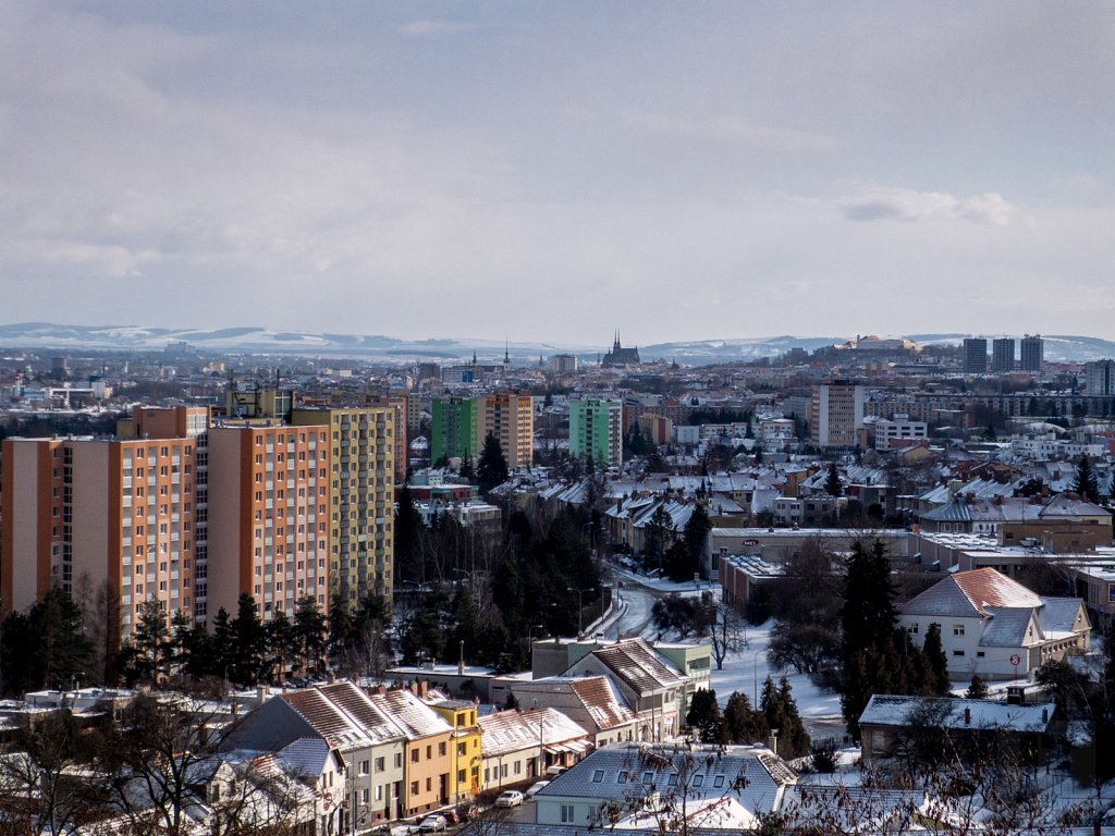 Zimní vyhlídka na město