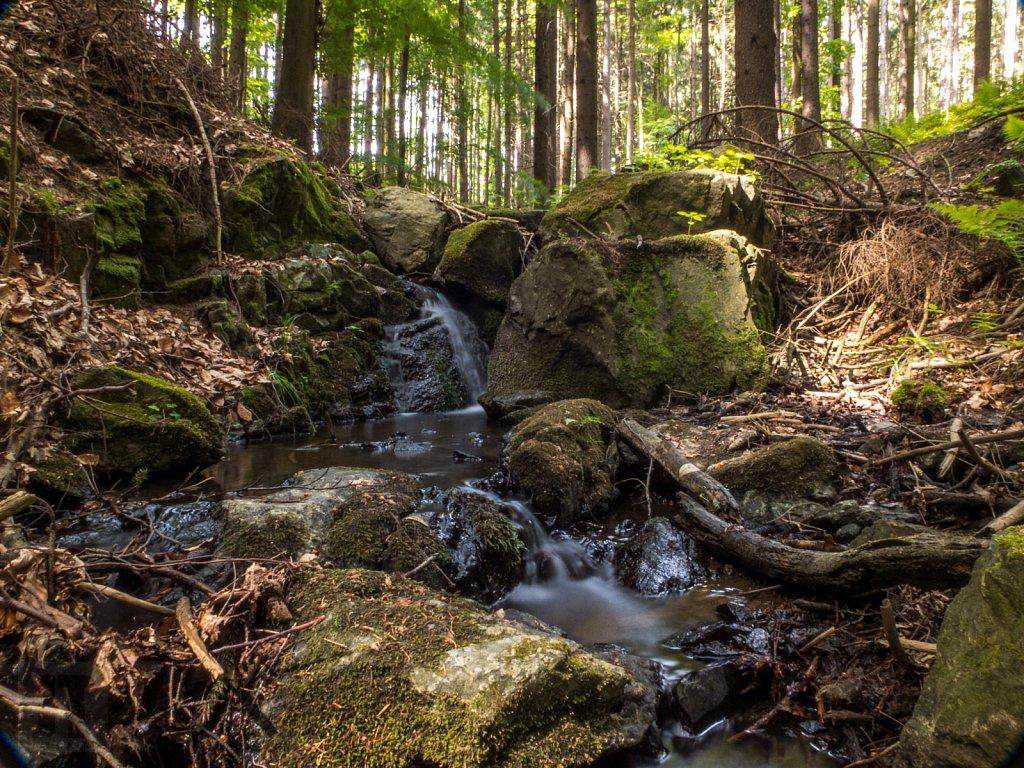 Šebrovka - horní vodopád